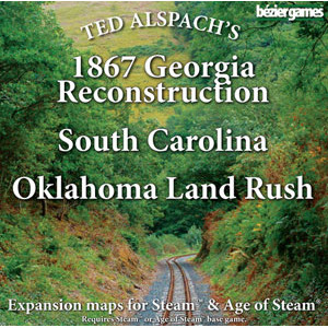 Age of Steam Expansion: 1867 Georgia Reconstruction, South Carolina & Oklahoma Land Rush