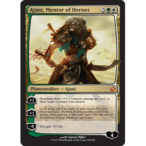 AJANI GOLDMANE  PLANESWALKERS  MAGIC THE GATHERING