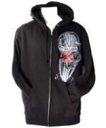 Zip-Up Hoodie Sweatshirt (Men's Zip-Up Hoodie, Retrospect Graphic)