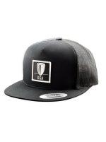 DGA Patch Logo Flatbill Mesh Snapback Baseball Cap (Flatbill Mesh Snapback Baseball Cap, DGA Name and Basket Patch Logo)
