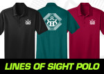 Rapid Dry Polo (Short Sleeve) (Rapid Dry Polo (Short Sleeve), Lines of Sight DD Crown Logo)