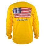 T-Shirt (Long Sleeve) (T-Shirt (Long Sleeve), Innova Disc Golf Logo (Front) American Flag (Back))