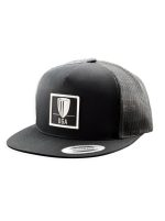 DGA Patch Logo Flatbill Mesh Snapback Baseball Cap (Flatbill Mesh Snapback Baseball Cap, DGA Name and Basket Patch Logo)