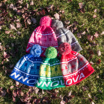 Knit Pom Beanie (Knit Beanie Cap, Innova Name with Christmas Sweater design)