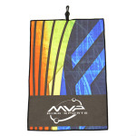 MVP Discs Orbit Logo Full Color Sublimated Towel (Sublimated Golf Towel, MVP Orbit Logo)