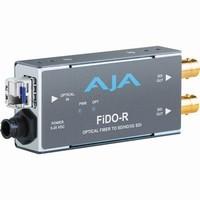 AJA 1-channel Optical Fiber to SD/HD/3G-SDI Converter |FIDO-R|