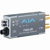 AJA 2-Channel Optical Fiber to SD/HD/3G-SDI Converter |FiDO-2R|
