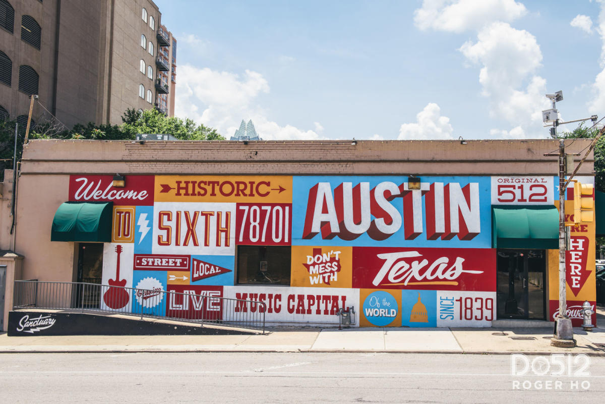 This saturday take a tour behind the history o for Austin mural location