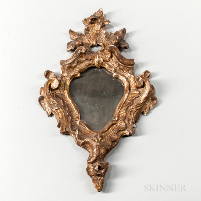 Gilt Carved Rococo Mirror (Lot 1667, Estimate: $500-1,000)