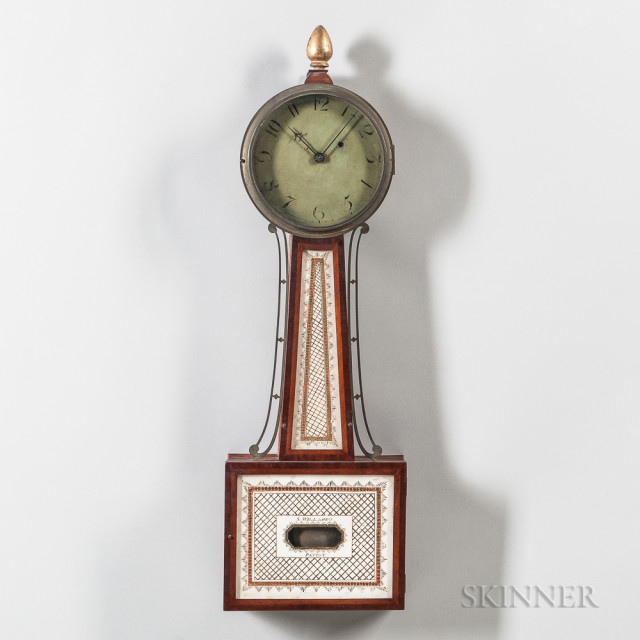 "New England Patent Timepiece or ""Banjo"" Clock, c. 1805 (Lot 1545, Estimate: $1,000-1,500)"