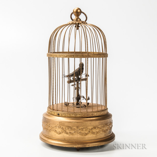 Singing Bird Automaton (Lot 1547, Estimate: $600-800)