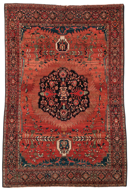 Antique Fereghan Sarouk Rug, Iran, c. 1890, 6 ft. 10 in. x 4 ft. 8 in. (Lot 42, Estimate: $3,000-4,000)