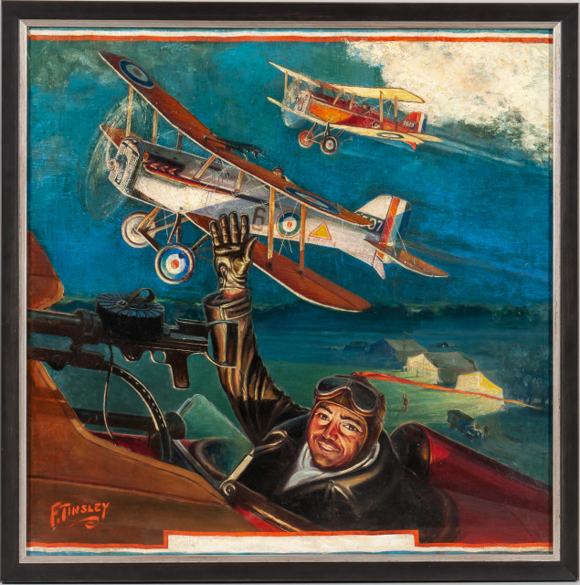 Frank Tinsley (New York/Connecticut, 1899-1965) George Bruces Squadron Takes Off (Lot 1091, Estimate: $800-1,200)