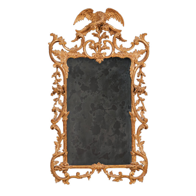 George III Gilt and Carved Mirror (Lot 424, Estimate: $1,500-2,500)