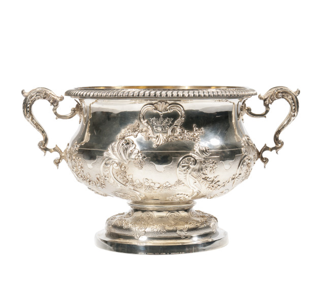 Victorian Sterling Silver Punch Bowl (Lot 21, Estimate: $5,000-10,000)