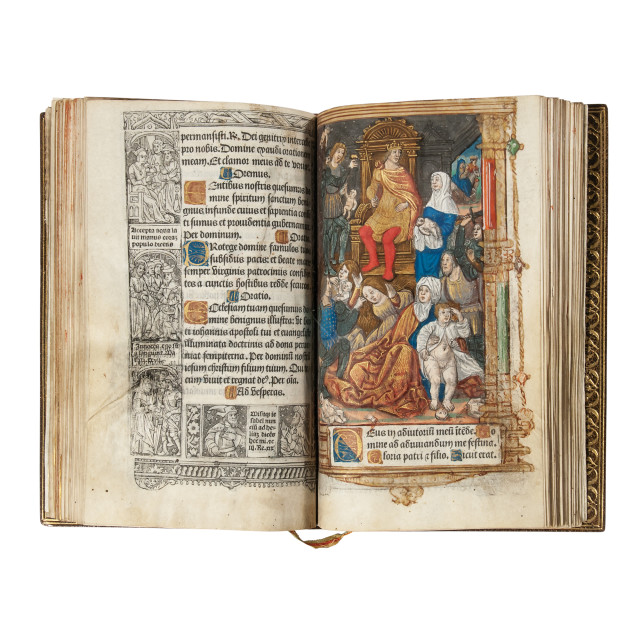 Book of Hours, Latin, Use of Paris, Printed on Parchment and Illuminated, Paris, Early 16th Century (Lot 52, Estimate: $7,000-9,000)