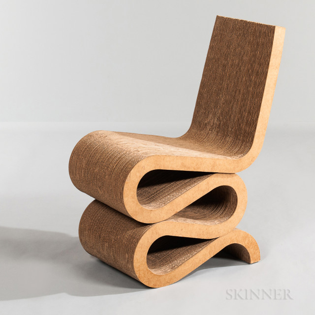 """Frank Gehry for Vitra """"Wiggle"""" Chair (Lot 1254, Estimate: $700-900)"""