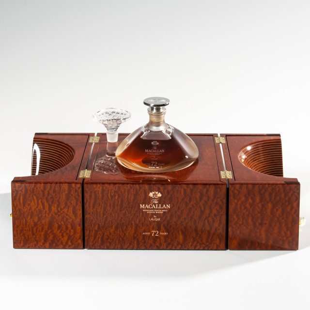 Macallan in Lalique 72 Years Old 1946, 1 750ml bottle (pc) (Estimate: $100,000-125,000)