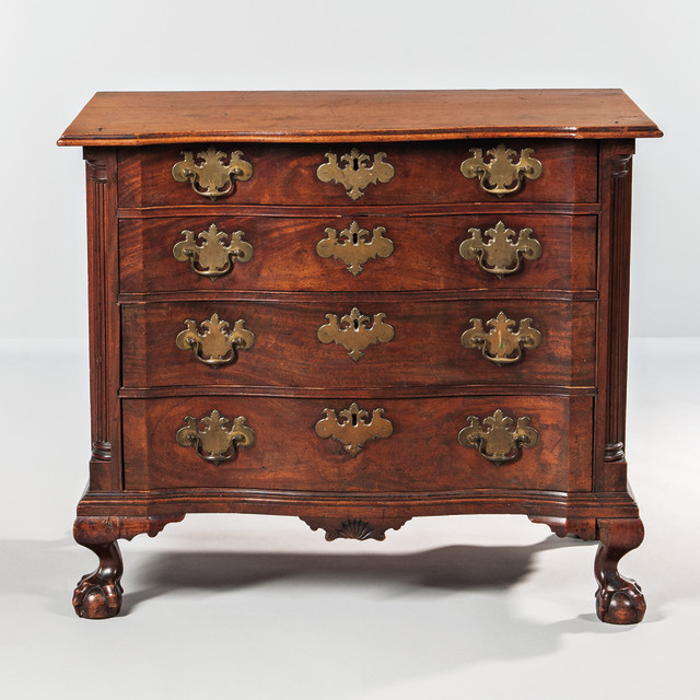 Chippendale Mahogany Carved Chest of Drawers, Coastal Massachusetts, c. 1760-80 (Lot 186, Estimate: $50,000-100,000)