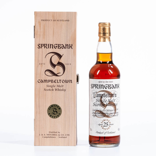 Springbank, 25 years old. Campbeltown. 46% (Estimate: $2,000-2,500)