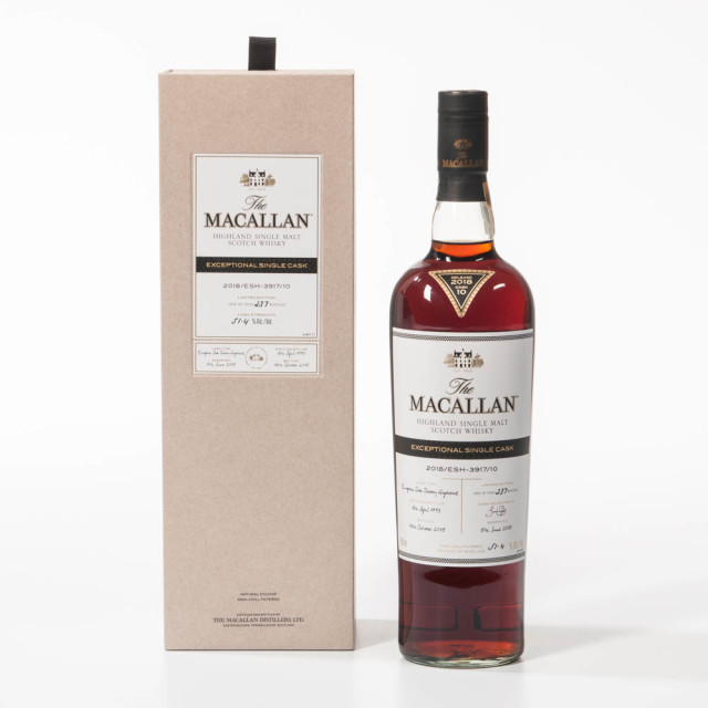 Macallan Exceptional Single Cask, 25 years old. Speyside, 1993. 51.4% (Estimate: $6,000-8,000)