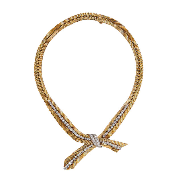 18kt Gold and Diamond Necklace, Van Cleef & Arpels (Lot 57, Estimate: $15,000-20,000)