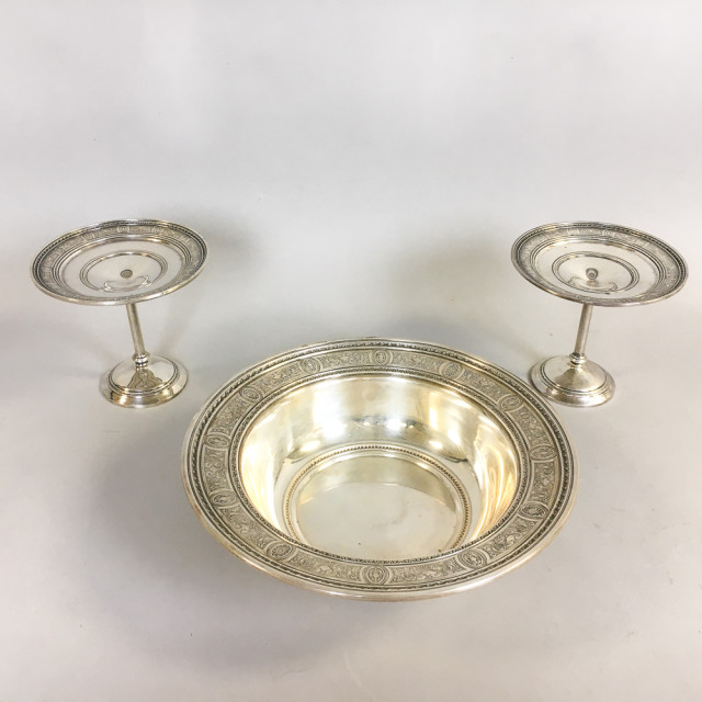 "Three Pieces of International Sterling Silver ""Wedgwood"" Tableware (Lot 1136, Estimate: $400-600)"