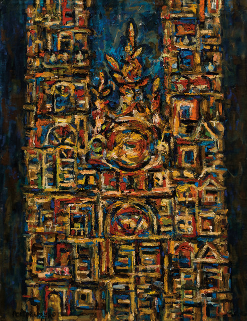 "René Portocarrero (Cuban, 1912-1985), Catedral, Signed and dated ""PORTOCARRERO/61"" (Estimate: $15,000-25,000)"