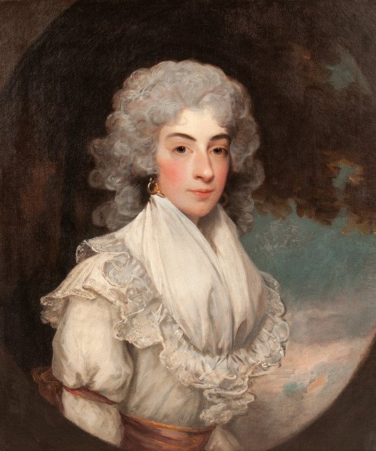 Gilbert Stuart (Massachusetts/England, 1755-1828), Portrait of Eliza Farren, Later Countess of Derby, Unsigned (Estimate: $25,000-30,000)