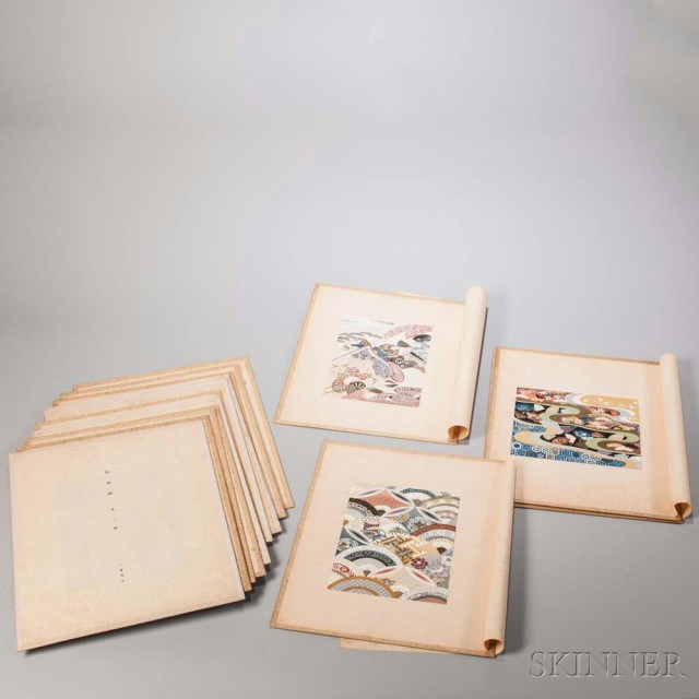 Sixteen Japanese Textile Patterns (Lot 1094, Estimate: $150-200)