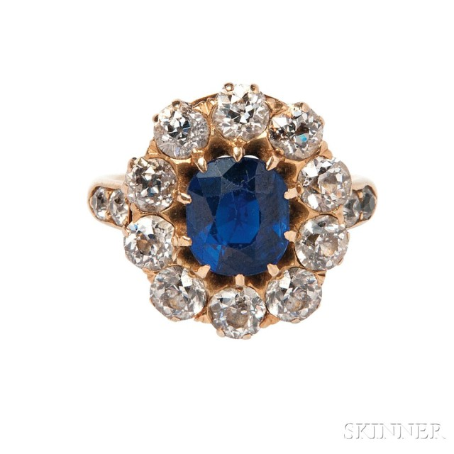 Antique Sapphire and Diamond Ring (Lot 489, Estimate: $30,000-50,000)