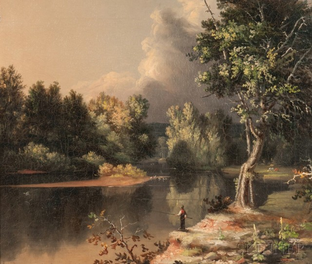 Attributed to Samuel Haydon Sexton (American, 1813-1890) View on the Mohawk River (Estimate $2,000-3,000)