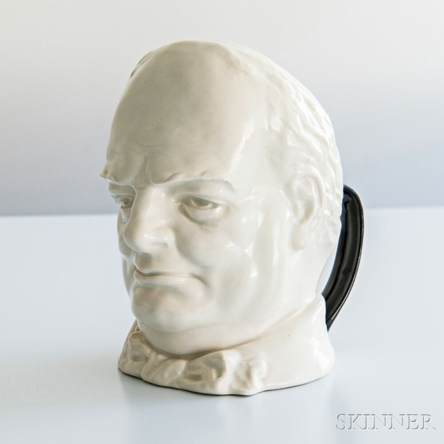 Churchill face jug with black handles (Estimate: $5,000-7,000)