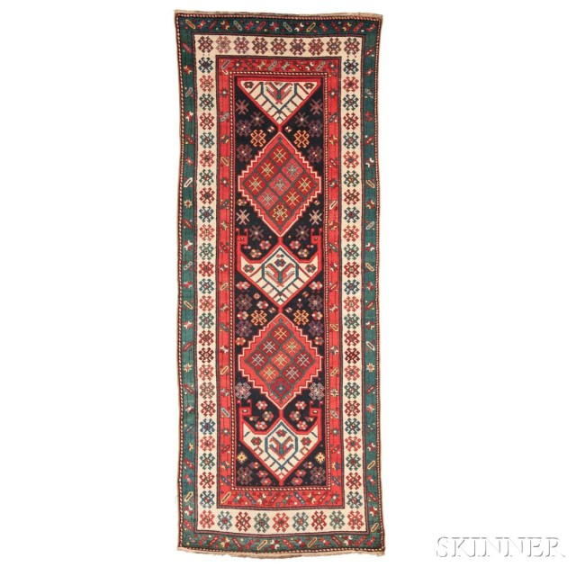 Talish Long Rug, Southern Caucasus, c. 1870 (Lot 118, Estimate: $3,000-3,500)