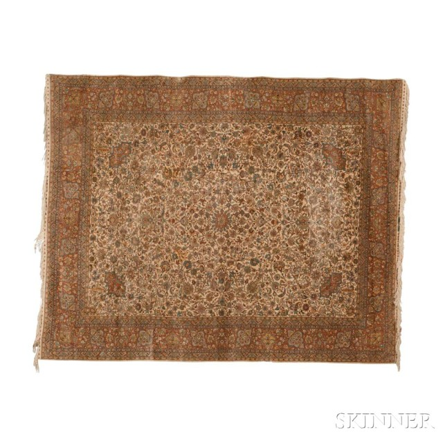 Silk Hereke Carpet, Turkey, c. 1920 (Lot 69, Estimate: $8,000-10,000)