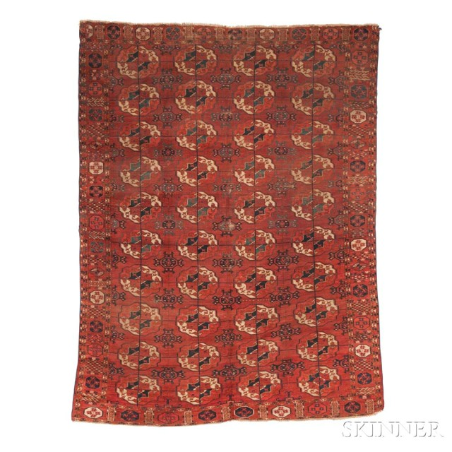 Tekke Main Carpet, Central Asia, early 19th century (Lot 96, Estimate: $1,500-  1,800)