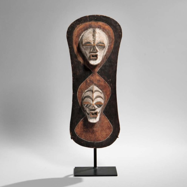 Songye Carved Wood Shield, Democratic Republic of the Congo (Lot 39, Estimate: $4,000-6,000)