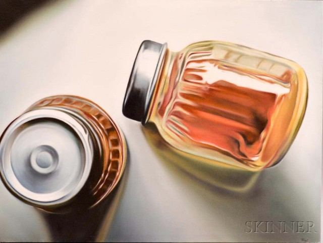 American School, 20th Century, Two Jars. Signed 'T. Ford' (Lot 1005, Estimate: $400-600)
