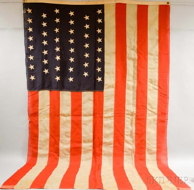 Forty-six Star American Flag (Lot 1019, Estimate: $300-500)