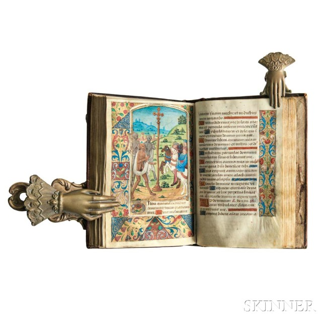 Book of Hours, Use of Rouen, Illuminated Latin Manuscript on Parchment.   Rouen, c. 1470-1490 (Lot 1161, Estimate: $40,000-60,000)