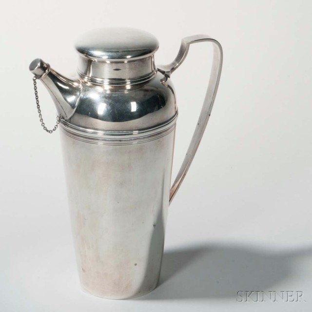 Sterling Silver Cocktail Shaker, Tiffany & Co., New York, 20th century (Lot 1000, Estimate: $800-  1,200)