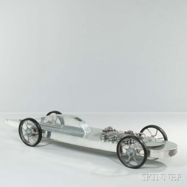 Stainless Steel and Found Object Sculpture of a High Speed Race Car, late 20th century (Lot 1147,   Estimate: $4,000-6,000)