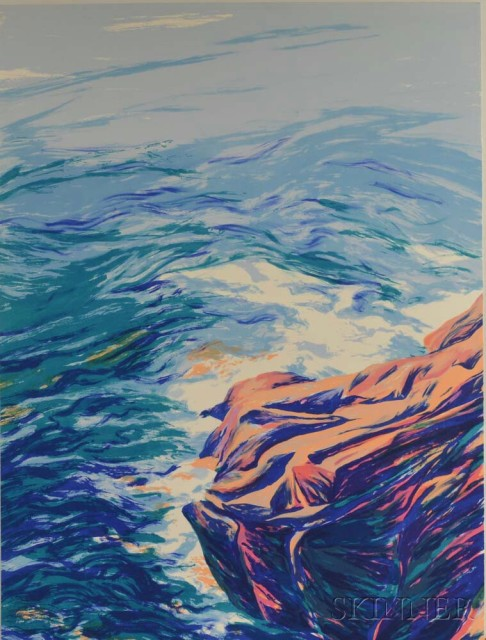 Diane Burko (American, b. 1945)  Ile au haut, 1989, edition of 178 (Lot 1063, Estimate $20-200)