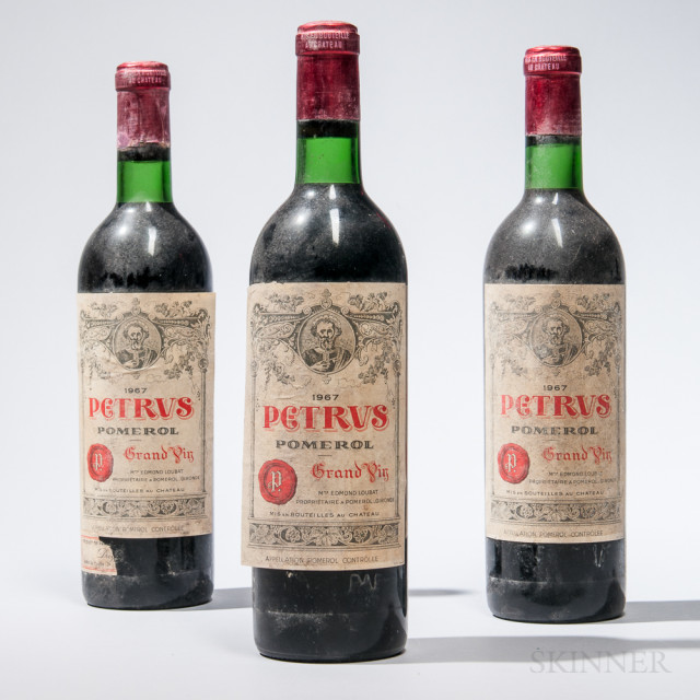Chateau Petrus 1967 (Lot 1226, Estimate $3,000-4,800)