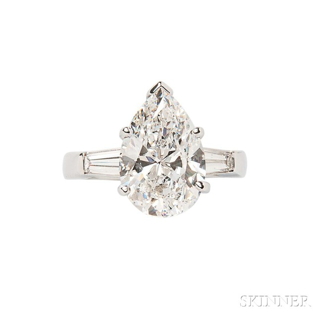 Platinum and Diamond Solitaire (Lot 400, Estimate: $50,000-60,000)