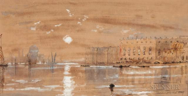 Edmund Darch Lewis (American, 1835-1910)  View of Venice (Lot 1048, Estimate $700-900)