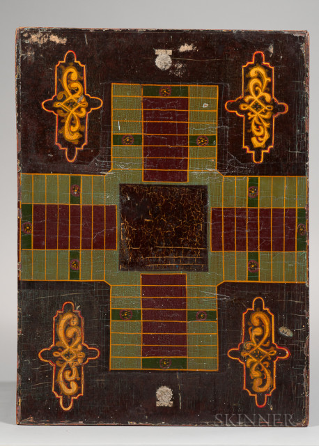 Painted Two-sided Game Board, 19th century (Lot 344, Estimate $250-350)