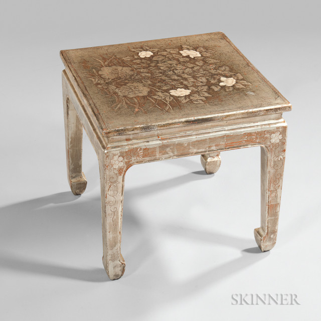 Max Kuehne (American, 1880-1968) Decorated Side Table (Lot 102, Estimate $3,000-5,000)