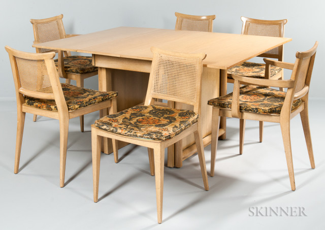 Edward Wormley Extension Dining Table and Six Chairs for Dunbar (Lot 1699, Estimate $600-800)