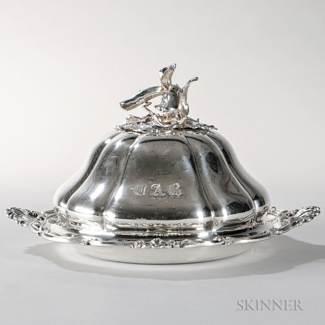 Victorian Sterling Silver Vegetable Dish and Cover, London, 1850-51 (Lot 28, Estimate $2,000-3,000)